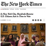In New York City, Hundreds Become U.S. Citizens Just in Time to Vote